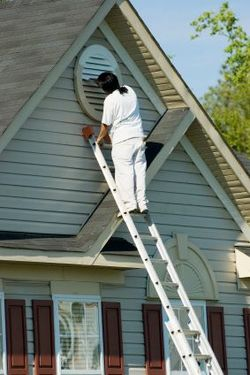 Exterior Painting being performed by an experienced Orcutt Painting Company, Inc painter.